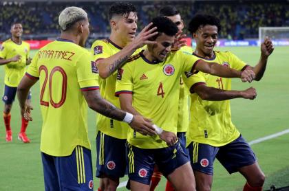 Foto de jugadores de Selección Colombia, en nota de cómo son las cuentas de Colombia para clasificar al Mundial de Catar 2022.