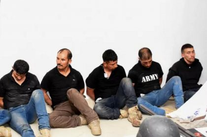 Colombianos detenidos en Haití.