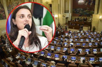 Congreso de Colombia, donde fracasó moción de censura contra Karen Abudinen.