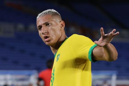 Richarlison, jugador de la Selección de Brasil, que dijo que su equipo no tiene rival en Sudamérica