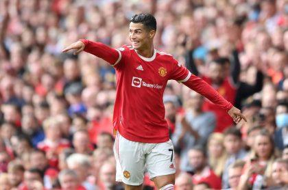 Cristiano Ronaldo, que debutó en Manchester United con doblete