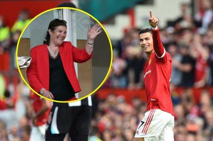 Mamá de Cristiano Ronaldo, que lloró de emoción en el debut de él en Manchester United, y el jugador