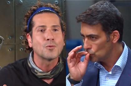 Beso en Masterchef entre Gregorio Pernía y Chris Carpentier; boca a boca. Fotomontaje: Pulzo.