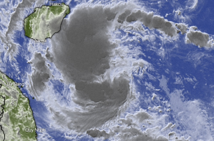 Mapa donde se muestra la ubicación del ciclón Conson.