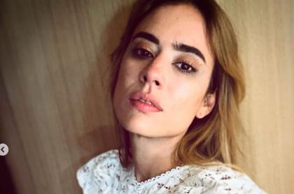 Selfi de Carolina Ramírez, protagonista de la 'Reina del flow', que contó el final que le habría puesto a la serie de Caracol