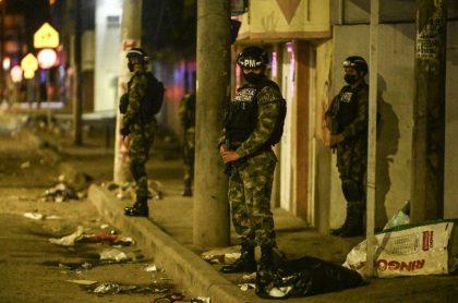 Imagen de la Policía Militar, en Colombia.