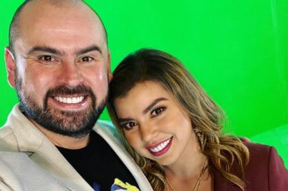 Selfi de Ricardo Quevedo y Liss Pereira, que anunció que se casa