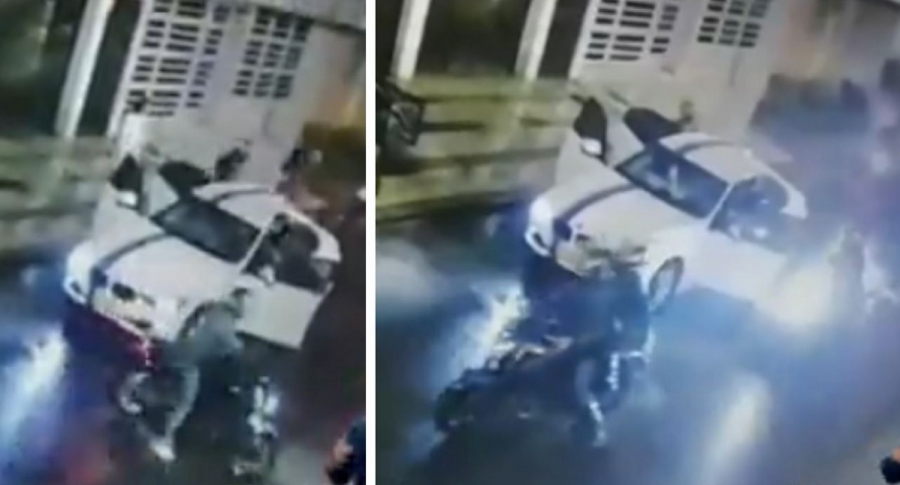 Inseguridad en Bogotá: ladrones atracan en varias motos