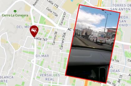 Imágenes que ilustran accidentes de tránsito en Bogotá.
