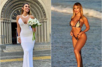 Fotos de la candente modelo brasileña que celebra que se casó con ella misma