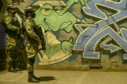 Ejército en las calles de Bogotá.