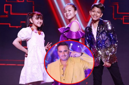 Jesús Navarro y su equipo en 'La voz kids'.