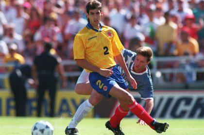 Andrés Escobar en la Selección Colombia, a propósito de que dicen que Juan Pablo Urrego lo interpretaría en bionovela sobre 'el Caballero del fútbol' para Netflix.