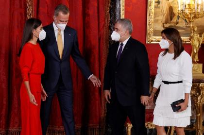 Iván Duque y la Primera Dama con los reyes de España
