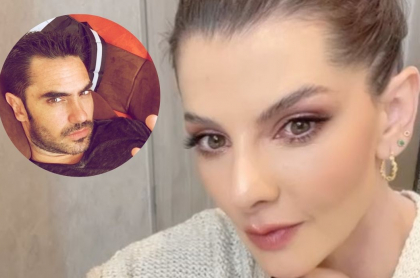 Fotos de Carolina Cruz y Linconl Palomeque, en nota de mensaje que hizo la presentadora y dicen que va para el actor.