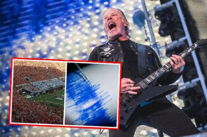 James Hetfield, de Metallica, habló al ver que 'Enter Sandman' hizo temblar.