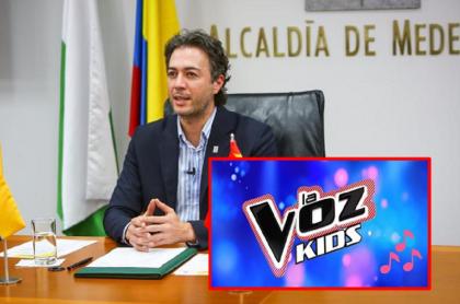 Daniel Quintero Calle, que hizo barra en 'La voz kids'.