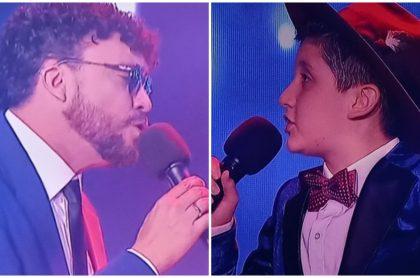 Cepeda y Josué en 'La voz kids'.