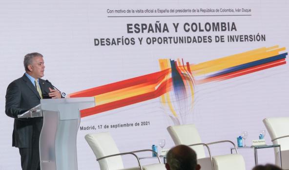 Iván Duque habló sobre la inversión en España y habló de economía en Colombia