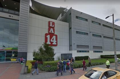 Fachada de Almacenes La 14 en el centro comercial Calima, en Bogotá.