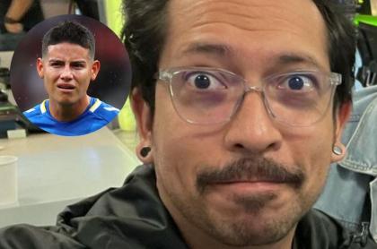 Fotos de James Rodríguez y Frank Martínez, en nota de costoso regalo que le dio el jugador al humorista y la anécdota de cómo fue.