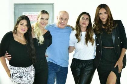 Foto de Marbelle, Catalina Maya, Jorge Rausch, Carla Giraldo y Viña Machado, en nota de algo que no hizo Marbelle igual que sus amigas de 'Masterchef'.