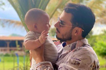 Pipe Bueno y su hijo Máximo.
