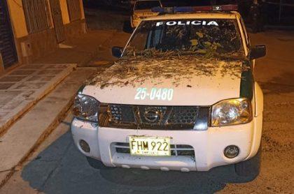 Patrulla de la Policía atacada con explosivos en el Quindío.