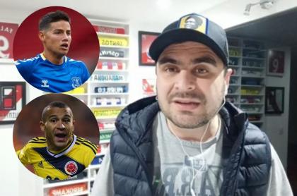 Fotos de Juan Felipe Cadavid, James Rodríguez y Macnelly Torres, en controversia en Twitter por opinión del periodista.