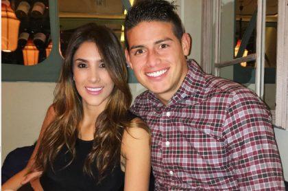 Daniela Ospina y James Rodríguez, a propósito de que ella dijo si está soltera y, de paso, si volvió con James Rodríguez.