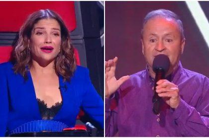 Natalia Jiménez y Samuel Lotero en 'La voz senior'.