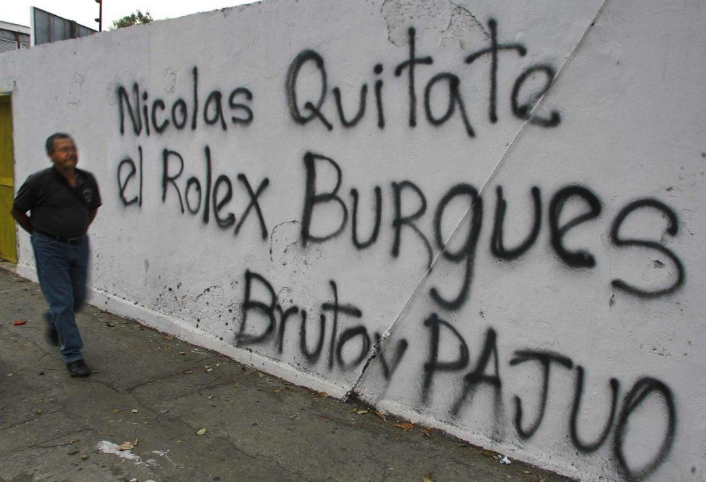 Getty / Grafiti en el que se critica a Maduro.