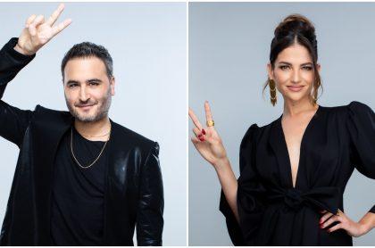 Jesús Navarro y a Natalia Jiménez, en 'La voz senior'.
