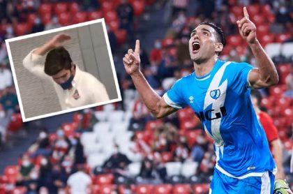 Gol de Falcao García en el triunfo del Rayo Vallecano ante el Athletic Club de Bilbao por La Liga provocó pataleta de periodista español.
