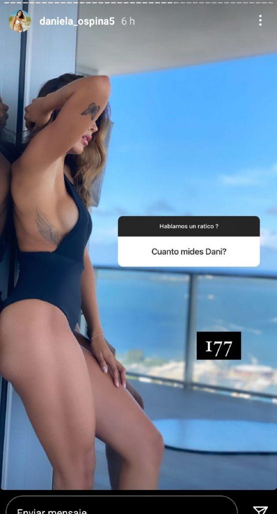 Captura de pantalla historia de Instagram daniela_ospina5.