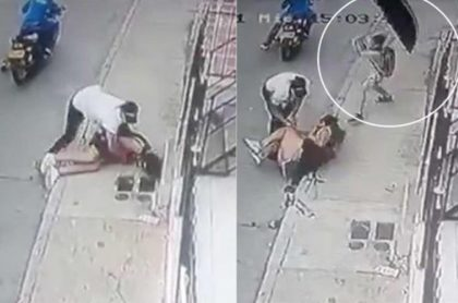 Video: Niño en Cartagena enfrentó a ladrones con sombrilla para salvar a su mamá