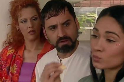 Claudia Liliana Gómez, Robinson Díaz y Mónica Gómez en escena de 'Pecados capitales', en nota de parentesco de Gómez con estrella de Hollywood.