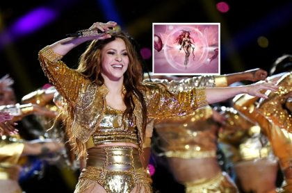 Shakira en su presentación en el Super Bowl, año y medio antes de mostrar su animación NFT.