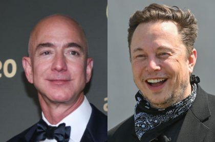 Jeff Bezos y Elon Musk, los dos hombres más ricos del mundo.