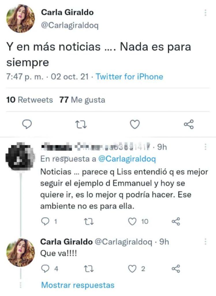 Twitter @Carlagiraldoq