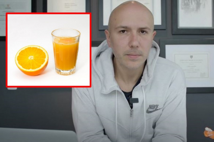 Por qué el jugo de naranja es malo para la salud, según médico Carlos Jaramillo