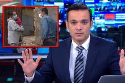 Juan Diego Alvira (Noticias Caracol) fue al sur de Bogotá para darle mercado a una mujer y darle buenas noticias.