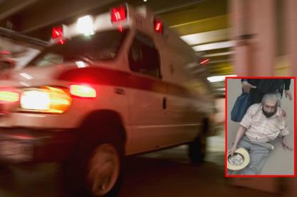 Imagen de ambulancia ilustra artículo Conductor de ambulancia atropelló a abuelo que iba en bicicleta, y huyó volando