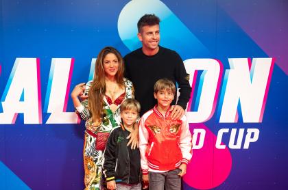 Fotos y videos de Sasha y Milán, hijos de Shakira y Piqué, se robaron el show en el torneo de globos