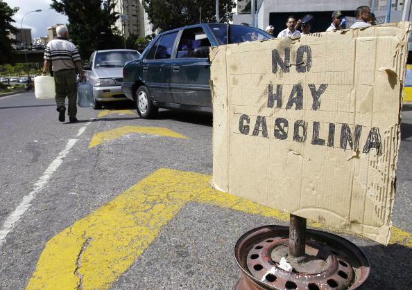 Venezuelans Wait In Long Lines For Gas