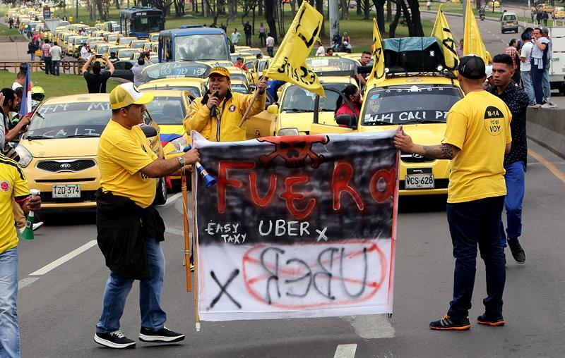 Taxistas Bogotá protesta (2)