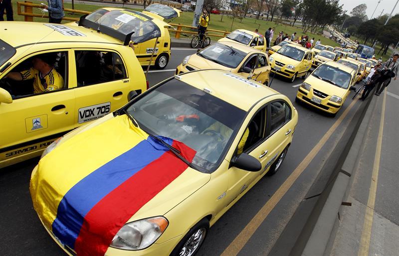 Taxistas Bogotá protesta (5)