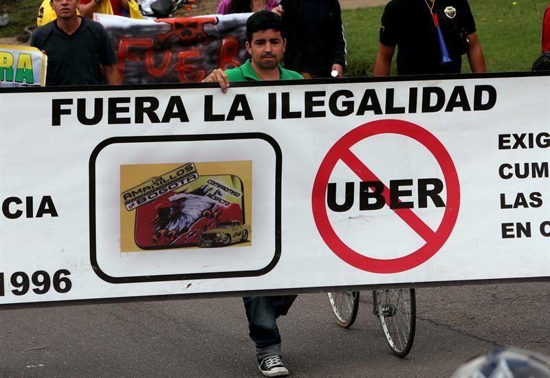 Taxistas Bogotá protesta (6)