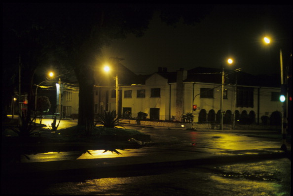 COLOMBIA - CIRCA 1900:  Street Scene at Night, in Bogota, Colombia.  (Photo by Veronique DURRUTY/Gamma-Rapho via Getty Images)